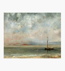 Gustave Courbet - Clouds Over Lake Geneva Photographic Print