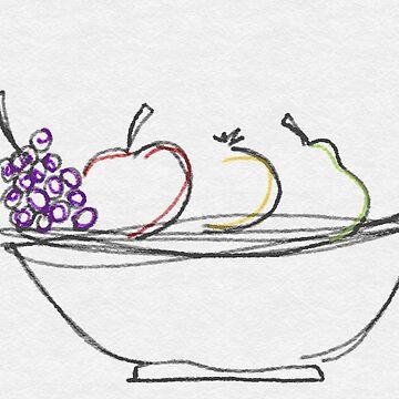 Bowl of Fruit  by fonzyhappydays