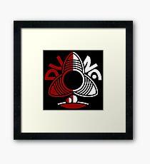 Dune Minimal Red White Framed Print