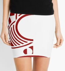 Dune Minimal Red White Mini Skirt