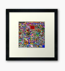 Reddit r/Place 10K resolution Official r/TheFinalClean Cleaned Version Framed Print