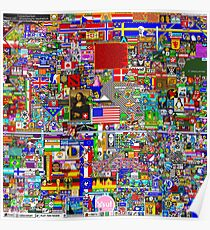 Reddit r/Place 10K resolution Official r/TheFinalClean Cleaned Version Poster