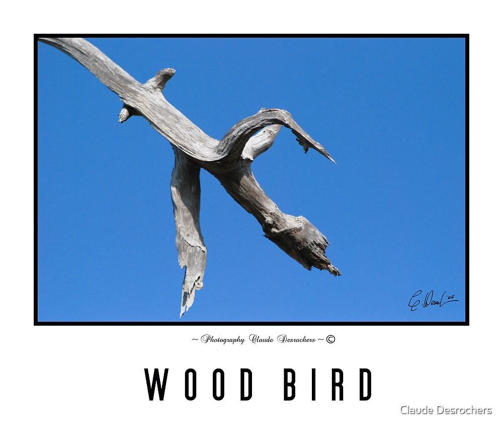 WOOD BRANCH BIRD by Claude Desrochers