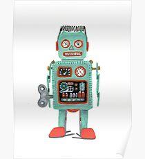 Retro Tin Robot No.1 Poster