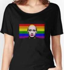Putin Clown Drag Rainbow Meme Tee Shirt Women's Relaxed Fit T-Shirt