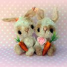 Bubblegum and Barbie  Bunny Rabbits Easter by Penny Bonser