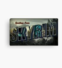 Greetings From Skyrim Canvas Print