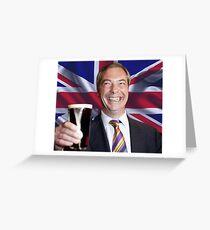 Nigel Farage Leader of UK Greeting Card