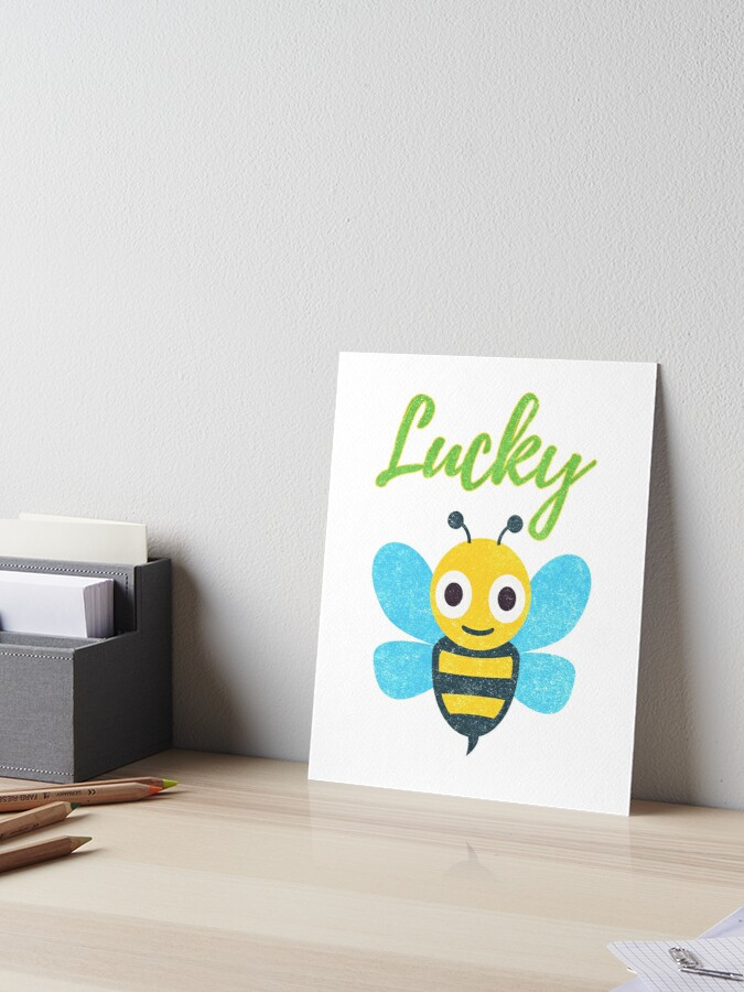 Lucky B Shirt | With Bee Emoji | Art Board Print