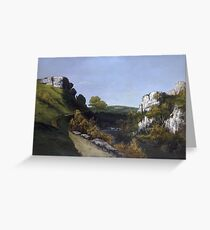 Gustave Courbet - Landscape Near Ornans Greeting Card