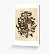 Octopus Coat Of Arms Heraldry Greeting Card