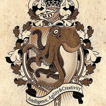 Octopus Coat Of Arms Heraldry by helloheath