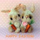 Bubblegum and Barbie  Bunny Rabbits Easter Card by Penny Bonser