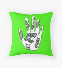 Double Helix Hand Throw Pillow
