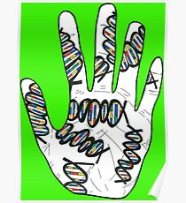 Double Helix Hand Poster