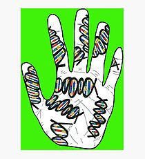Double Helix Hand Photographic Print