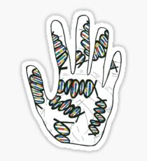 Double Helix Hand Sticker