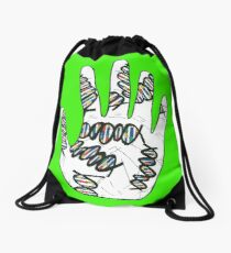 Double Helix Hand Drawstring Bag