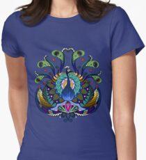 Peacock Mandala - Cool Womens Fitted T-Shirt