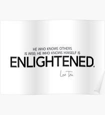 wise, enlightened - lao tzu / laozi Poster