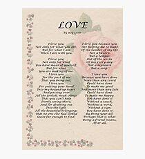 Liebe von Roy Croft Fotodruck