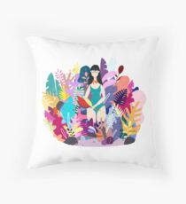 Spring herbarium Throw Pillow
