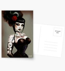 Gothabilly Pinup, gothic art Postcards