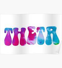 ~groovy theta tie dye Poster