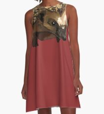 Hedgehog Pop Art (Moody Harry Hogsworth) A-Line Dress