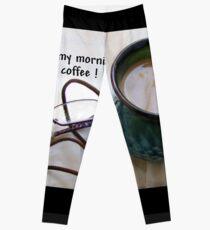 Boeretroos / A cup of coffee Leggings