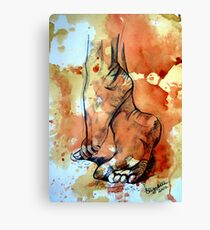 Barefoot in the rain Canvas Print