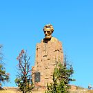 Statue of Lincoln's Head..Laramie, Wyo. by Diane Arndt