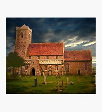 Stormy Church  Photographic Print