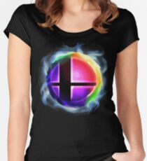 Smash Ball Women's Fitted Scoop T-Shirt