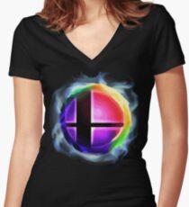 Camiseta entallada de cuello en V Smash Ball