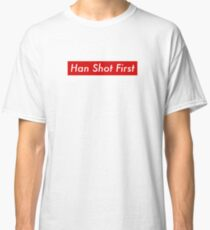 Supr eme Han Shot First Bogo Classic T-Shirt
