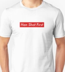 Supr eme Han Shot First Bogo Unisex T-Shirt