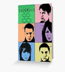 Torchwood Pop Art Greeting Card