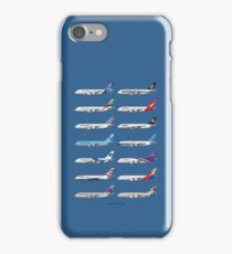 Airbus A380 Operators Illustration - Blue Version iPhone Case/Skin