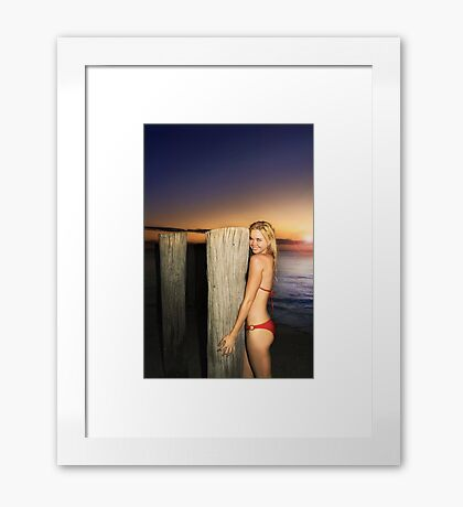 Sunset Hug Elisa Framed Print