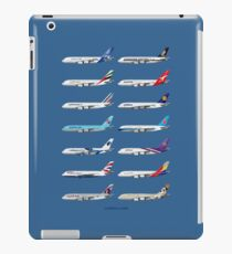 Airbus A380 Operators Illustration - Blue Version iPad Case/Skin