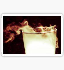 Brennendes Glas Sticker