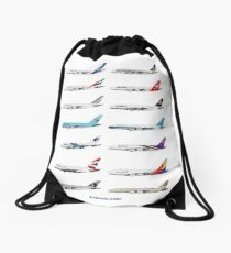 Airbus A380 Operators Illustration Drawstring Bag