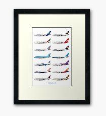 Airbus A380 Operators Illustration Framed Print
