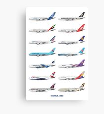 Airbus A380 Operators Illustration Metal Print