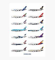 Airbus A380 Operators Illustration Photographic Print