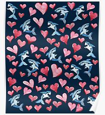 Sharks and Hearts Poster