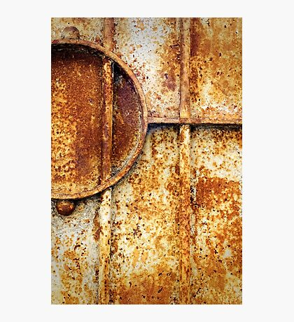 Rusty gate detail Photographic Print