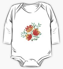 Light Afternoon Blossoms One Piece - Long Sleeve