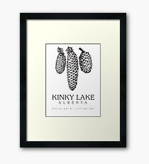 Kinky Lake, Alberta. Framed Print